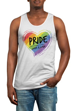 Love Is Love Gay Pride Equality Vest  - LGBTQ Tank Top Gift Idea Rainbow Heart Design