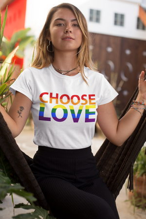Choose Love Gay Pride Equality T Shirt  - LGBTQ Gift Idea Maths Sum Equality Design