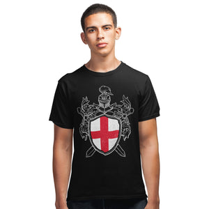 St Georges Day England T Shirt - English Knights Shield Saints Day Tee