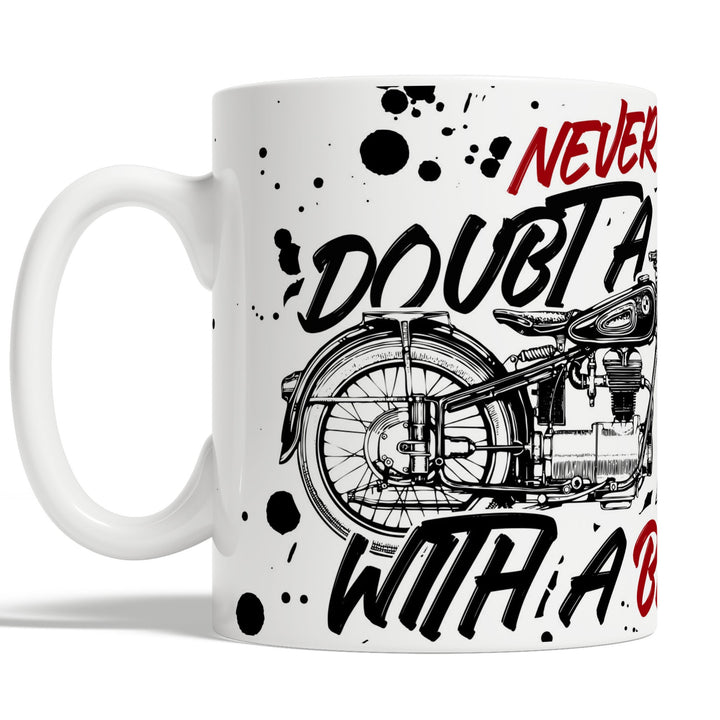 Never Doubt A Dad With A Bike Fathers Day Mug Gift Idea for Biker Dad Grandad