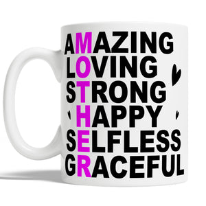 Amazing Loving Mother Mug Mothers Day Gift For Mum - Coffee Cup For Mom