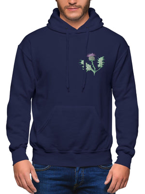 Scotland Rugby Hoodie Embroidered Thistle Badge For Men