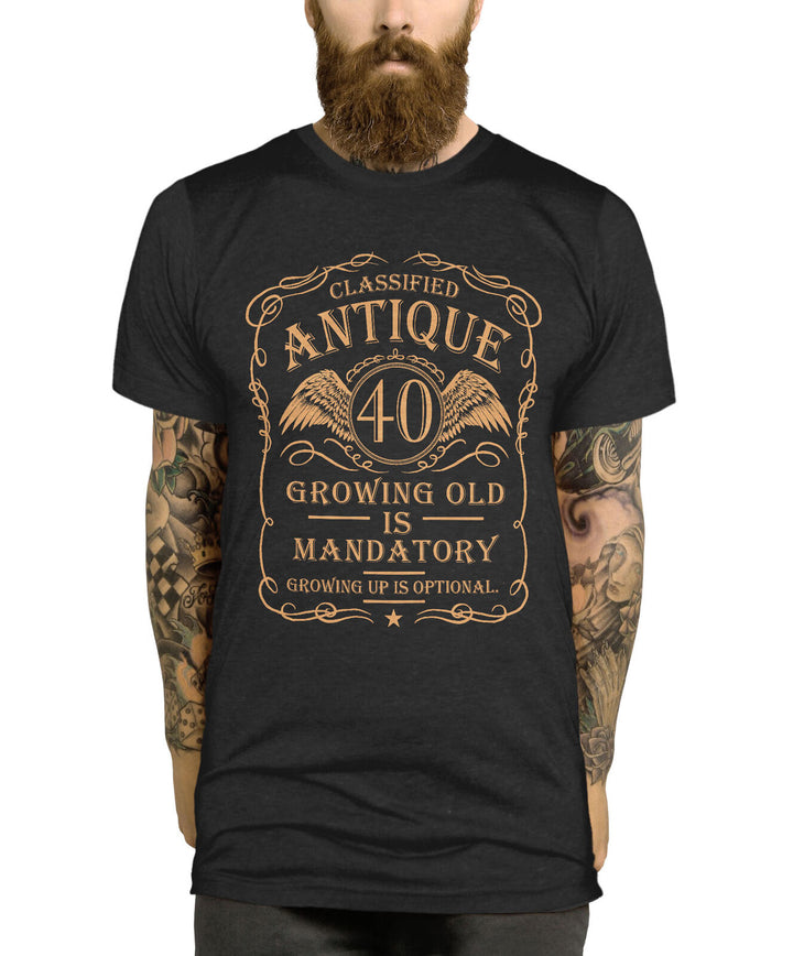 Classified Antique - 40th Birthday Gifts For Mens T Shirt Funny Mens Gifts