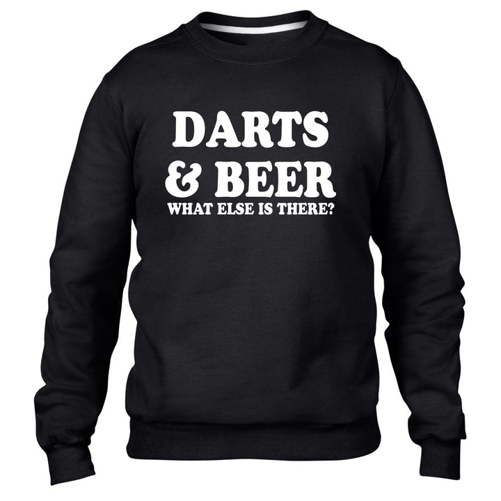 Darts and Beer What Else Is There Sweater Jumper Sweatshirt Men Women Kids Funny