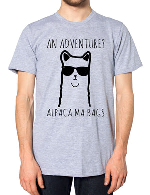 An Adventure Alpaca Ma Bags T Shirt Funny Cartoon Teen Llama Men Women Kids Girl, Main Colour Sport Grey
