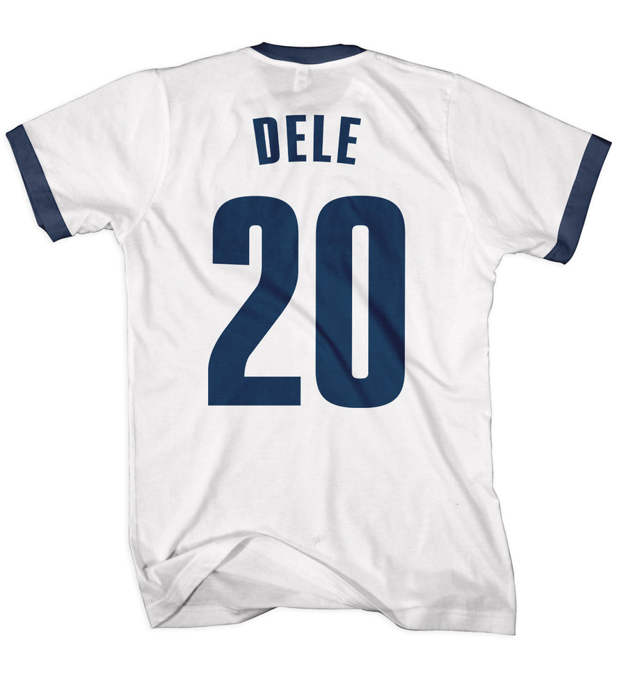 Dele Football Ringer T Shirt - Alli North London Chant Song Funny Gift Idea