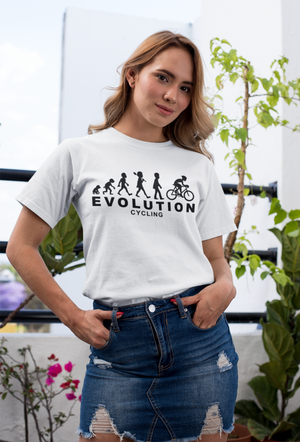 Cycling Evolution Human Cycle Chart T Shirt - Cyclist Gift Idea For A Bicycle Rider