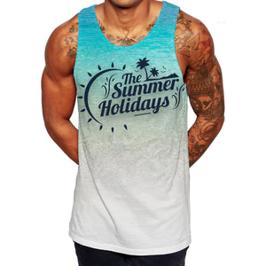 Beach Summer Tank Top - Sea Coming In On A Beach Stylish Summer Vest