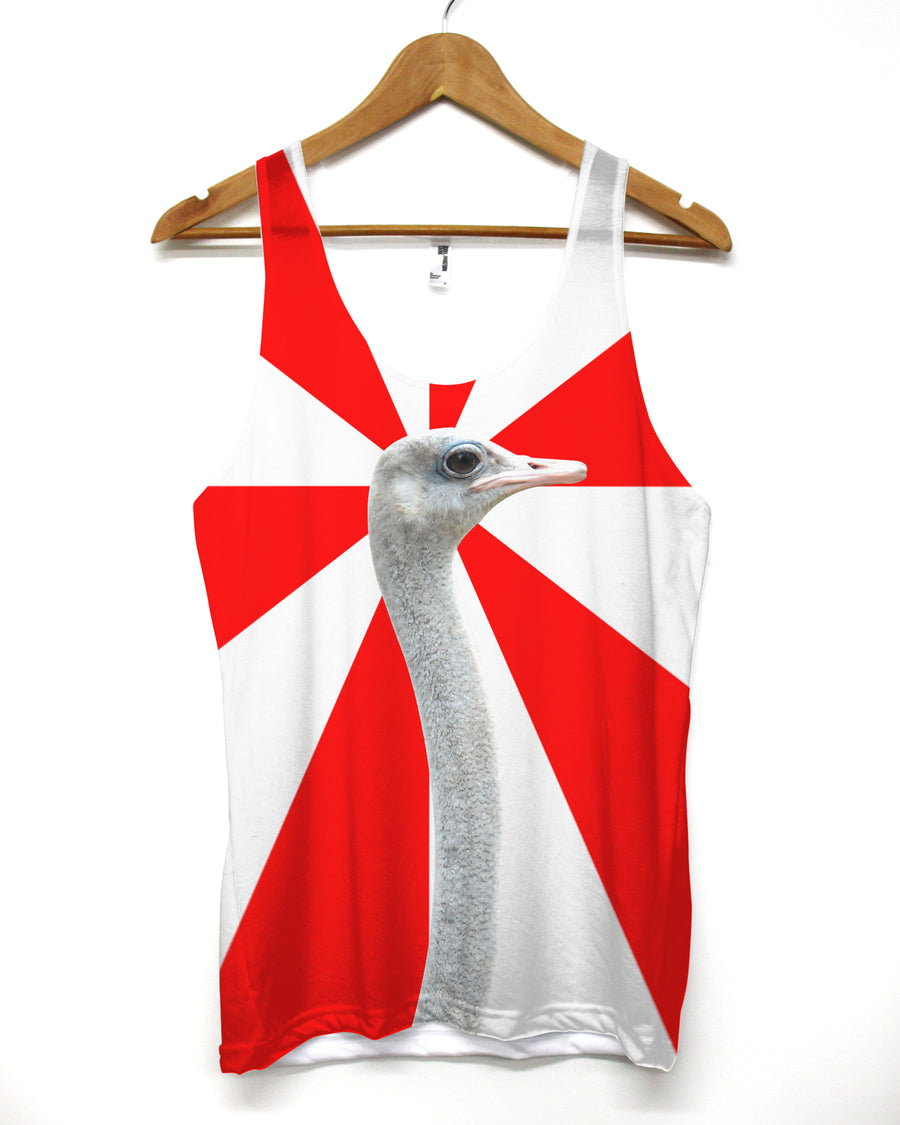 Ostrich Summer Vest  - All Over Printed Holiday Clothing