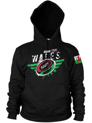 Wales Rugby Nations Hoodie - 2019 Six Nations & World Cup
