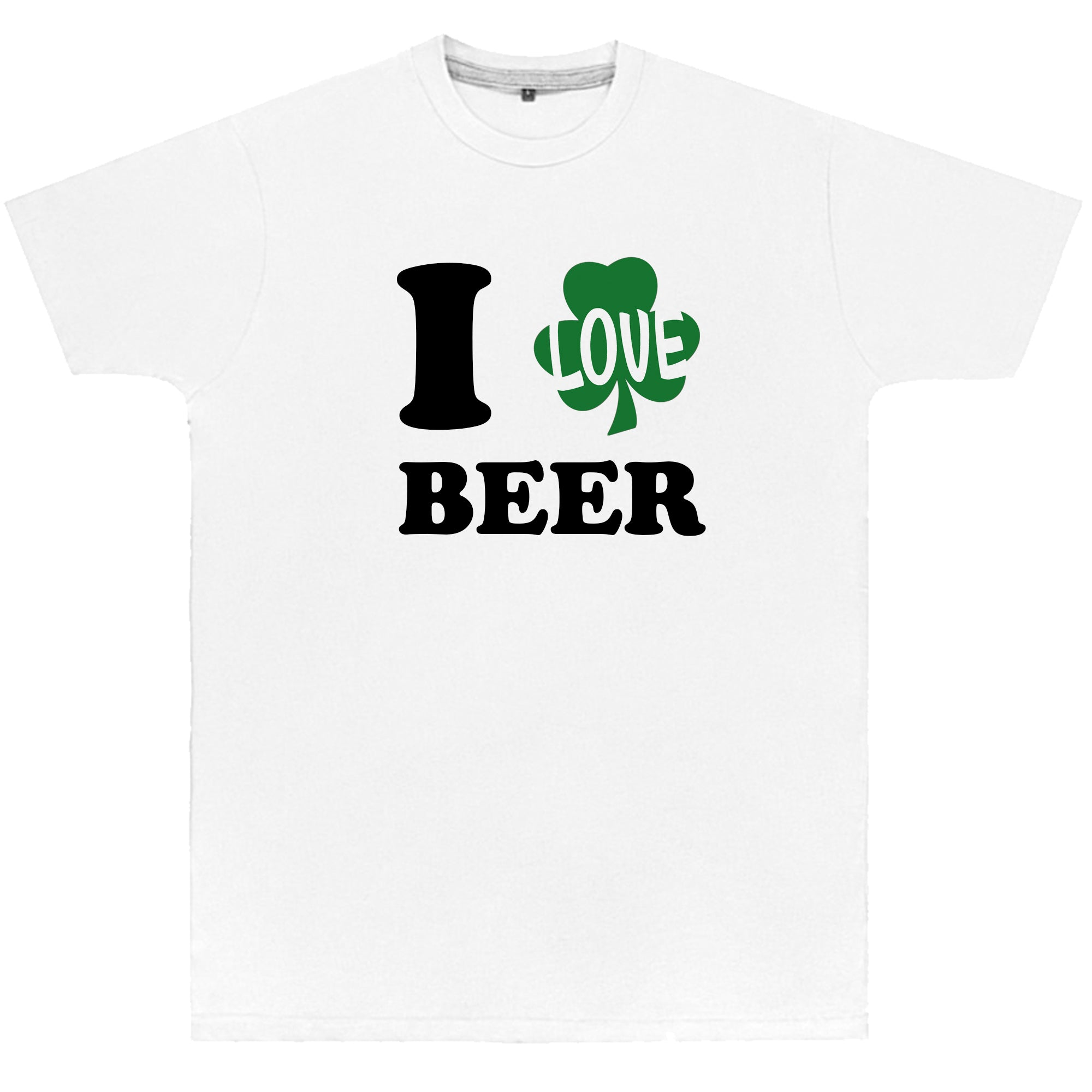 70cd2627d Product image 1 I Love Beer St Patrick's Day T Shirt Top Paddy's Day Gift Funny  Novelty Present Drink