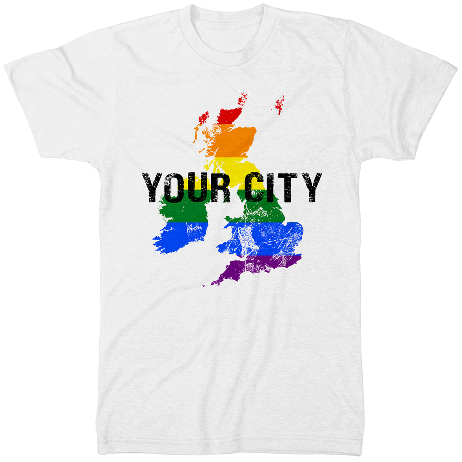 Personalised Gay Pride T Shirt - Celebrate Any Pride Event 2019