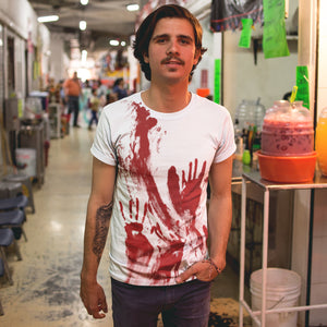 Mens This Is My Halloween Costume Tshirt Blood Splattered Scary Shirt