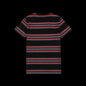 POUYA STRIPED TEE -  RED