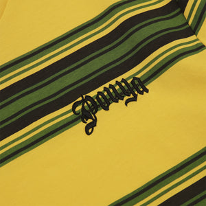 POUYA STRIPED TEE -  YELLOW