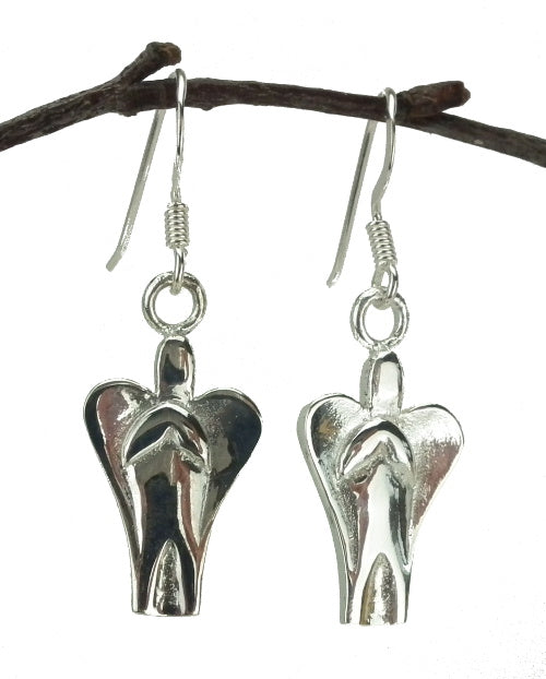Angel Drop Earrings in Sterling Silver