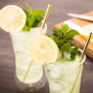 Metal Reusable Drinking Straws Set