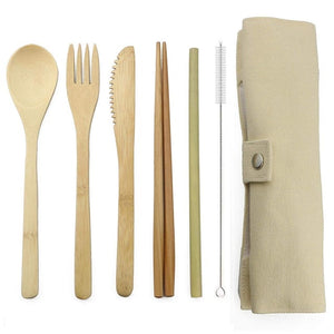 Small Wooden Cutlery Set