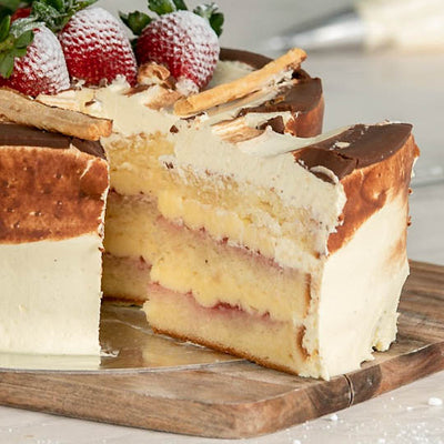 Vanilla and Strawberry Sponge Cake