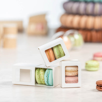 White Box of Two Macaron