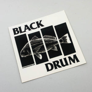 Black Drum Sticker