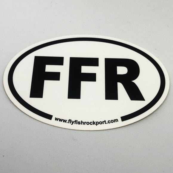 Oval FFR Sticker