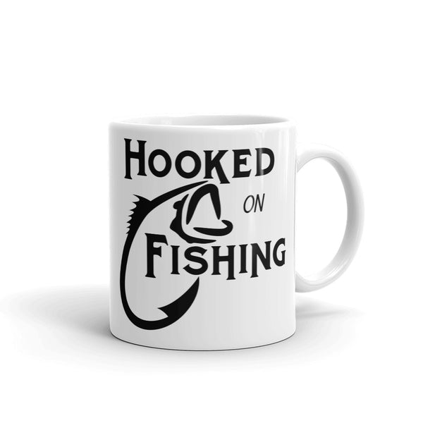 Mug Hooked on fishing