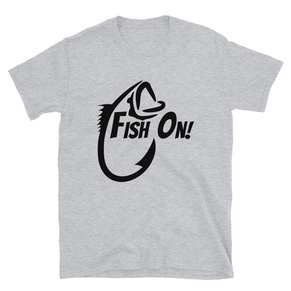Fish on (Gildan 64000 Unisex Softstyle T-Shirt)