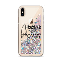 Liquid Glitter Phone Case (Hooked on mommy)