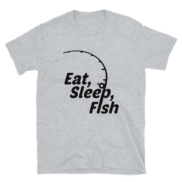Eat Sleep Fish (Gildan 64000 Unisex Softstyle T-Shirt)
