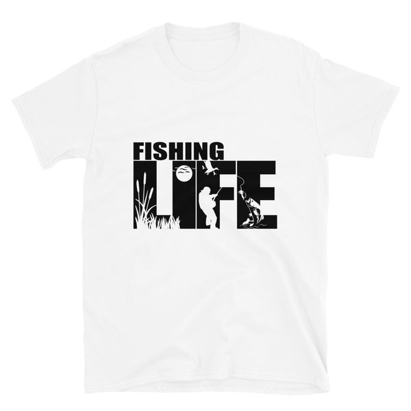 Fishing life (Gildan 64000 Unisex Softstyle T-Shirt)