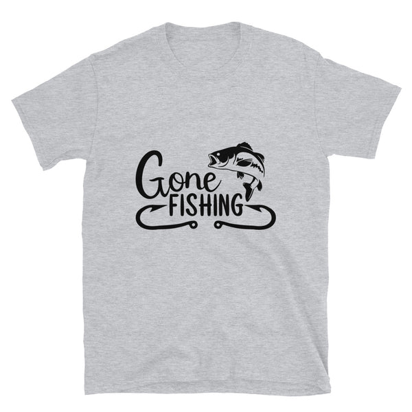 Gone fishing 3 (Gildan 64000 Unisex Softstyle T-Shirt)