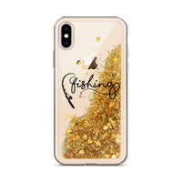 Liquid Glitter Phone Case (Fishing)