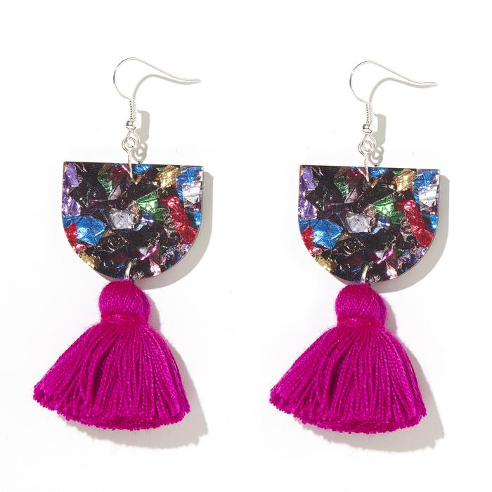 EMELDO - ANNIE EARRINGS // MIXED w MAGENTA