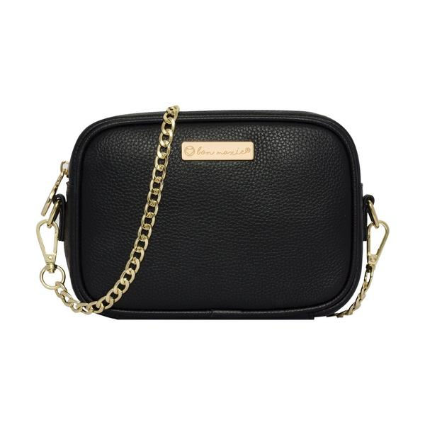 Mini Sidekick Convertible Pouch - BLACK/LIGHT GOLD