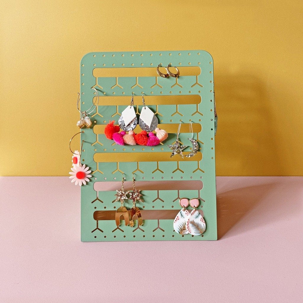 Bon Maxie - Standing Metal Bunny-Nose Earring Holder