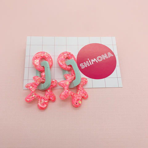 Shimona - Loopy Links Flora Dangle Earrings