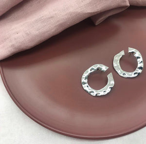 Peachy - Studded Hoop