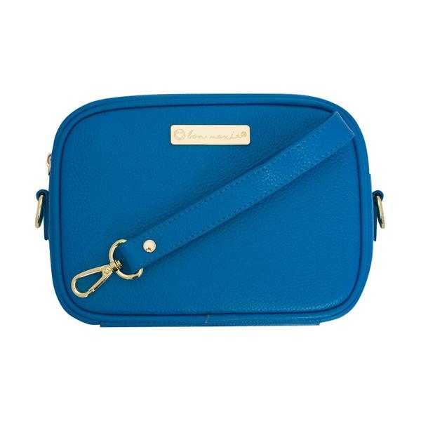 Mini Sidekick Convertible Pouch - Cobalt/Light Gold