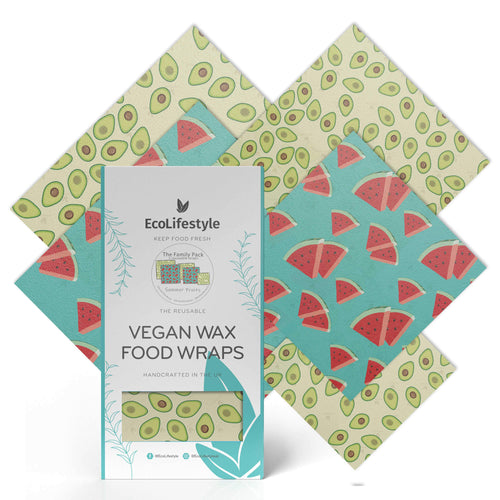 Family Pack Vegan Wax Food Wraps Summer Fruits - BioBunnies