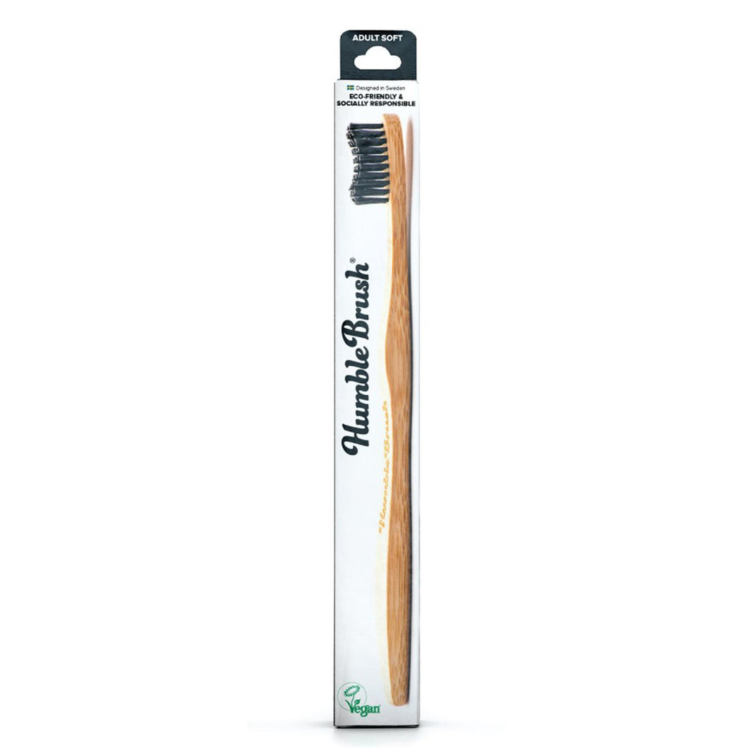 Humble Eco-friendly Bamboo Toothbrush - Medium Bristles Black - BioBunnies