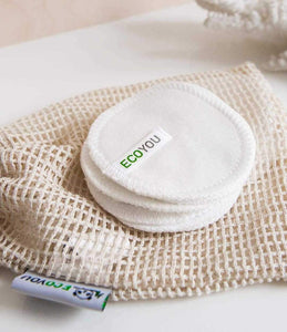 Makeup removal pads washable 10er set - white - BioBunnies