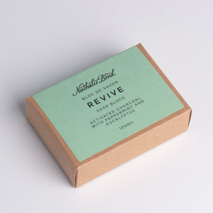 Organic Soap Bar: exfoliating activated charcoal, peppermint & eucalyptus - BioBunnies