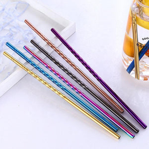 Stainless Steel Straw: Straight Spiral - BioBunnies