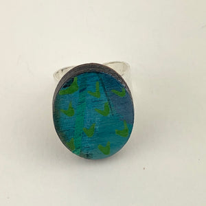 Miniature Original Painting Ring 'Expression 4'