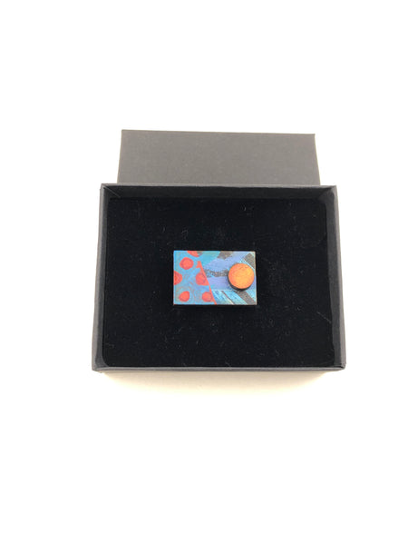 Wholesale -Miniature Original Painting Brooches