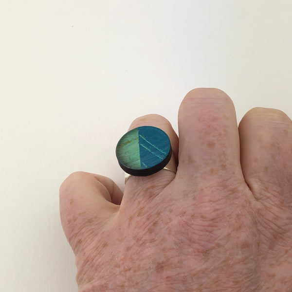 Miniature Original Painting Ring 'Expressive 1'