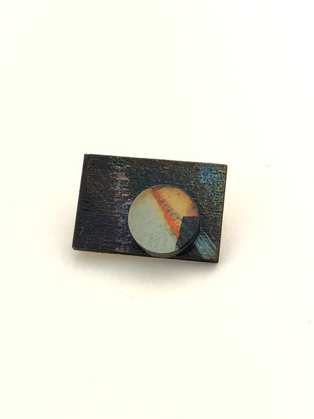 Miniature Original Painting Brooch 'You 2'