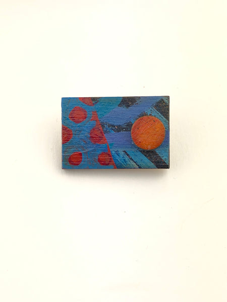 Miniature Original Painting Brooch 'You 1'