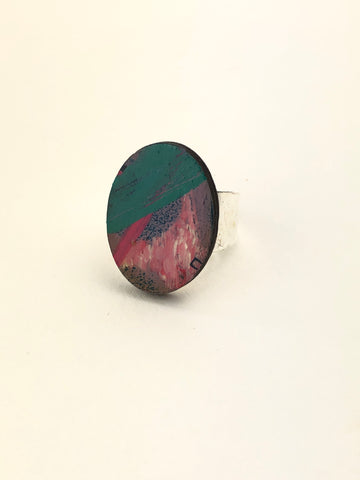 Miniature Original Painting Ring 'Expressive 5'
